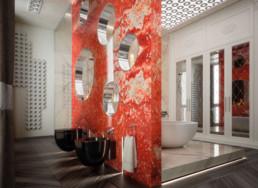 rendering 3D, rendering interni, rendering fotorealistico, rendering bagno, rendering lusso, rendering mobili, rendering vasca